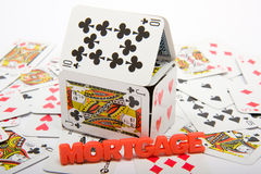 House of Cards Mortgage Market Royalty Free Stock Photos