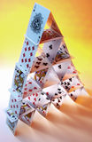 House of Cards - Playing Cards royalty free stock image