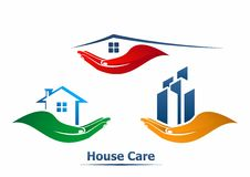 House care. Center vector logo royalty free illustration