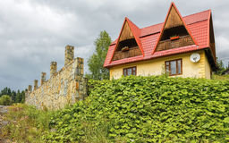 House in Carpathians Stock Photography