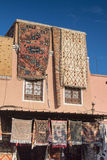 House with carpets shop in Marrakesh, Morocco Royalty Free Stock Image