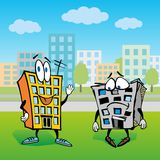 House cartoon character illustration Stock Photos