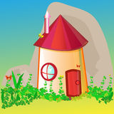 House for cartoon heroes Royalty Free Stock Photography