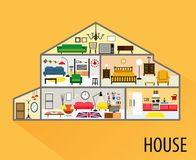 House cartoon interior Royalty Free Stock Photos