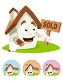 House Cartoon Mascot - auction Royalty Free Stock Photo