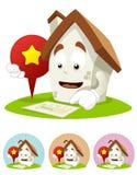House Cartoon Mascot - direction royalty free stock image