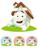 House Cartoon Mascot - doctor Stock Photos
