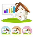 House Cartoon Mascot - presentation Royalty Free Stock Photo