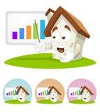 House Cartoon Mascot - presentation royalty free stock photo