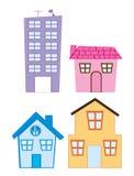 House cartoons Royalty Free Stock Photo