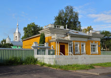House with carved palisade in Vologda Stock Photography