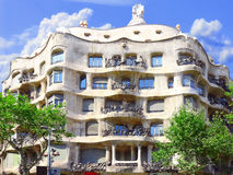 House Casa Mila , Barcelona,Spain. Stock Images
