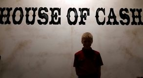 House of Cash. Johnny Cash Museum Stock Photo