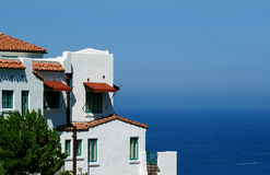 House on Catalina Island. A beautiful house on Catalina Island, in the Pacific Ocean Stock Photo