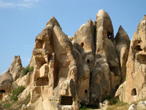 House caves at Cappadocia Turkey Stock Photos