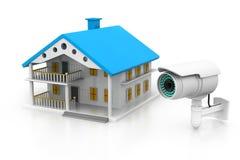 House with  CCTV camera Royalty Free Stock Photos