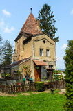 House in the cemetery. House in the medieval town of Sighisoara Stock Image