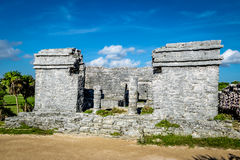 The house of Cenote - Mayan Ruins of Tulum, Mexico stock photography