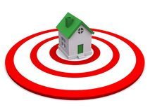 House in center of target Royalty Free Stock Photos