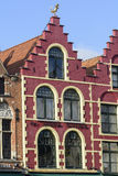 House in central market square, Belgium, Flanders, Bruges stock photos