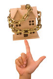 House chain on finger Royalty Free Stock Photography