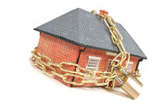 House in chains Royalty Free Stock Photo