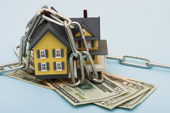 House with Chains Stock Image