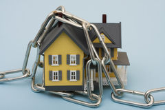 House with Chains Stock Photo
