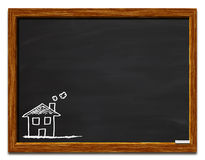 House on a chalkboard Stock Image