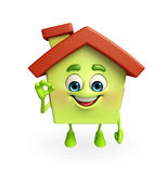 House character with best sign Stock Images
