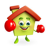 House character with boxing gloves Royalty Free Stock Photo