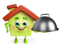 House character with cooking pot Stock Photo