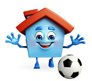 House character with football Stock Photo