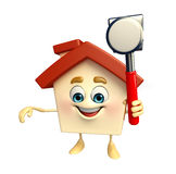 House Character with hammer Royalty Free Stock Photos