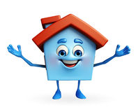 House character with happy pose Stock Image