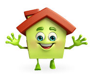 House character with happy pose Royalty Free Stock Photos