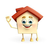 House character with with hello pose Royalty Free Stock Photography