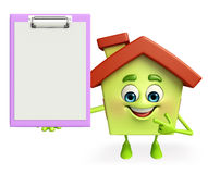 House character with notepad Stock Images