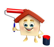 House Character is painting Stock Photo