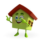 House Character is pointing Stock Images