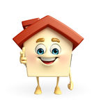 House character is pointing Royalty Free Stock Image
