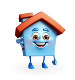 House character is pointing Stock Image