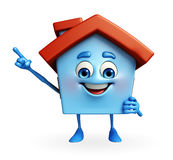 House character is pointing Royalty Free Stock Photo