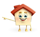 House character is pointing Royalty Free Stock Images