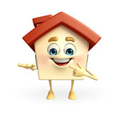 House character is presenting Royalty Free Stock Photography