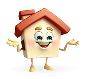 House character is presenting Royalty Free Stock Photos