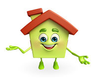 House character is presenting Stock Images