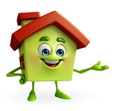 House character with presenting Stock Images