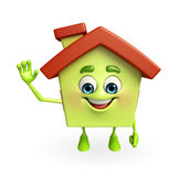 House character with is saying hi Stock Photography