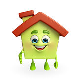 House character with shake hand pose Royalty Free Stock Photos
